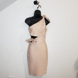 Light Pink Knee-Length Dress Side Cut Out